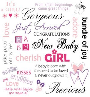 Its girl from small beginnings come great things gorgeous just arrivel congratulations ne