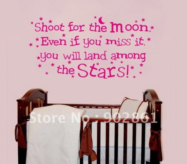 Shoot for the moon even if you miss it you will land among the stars