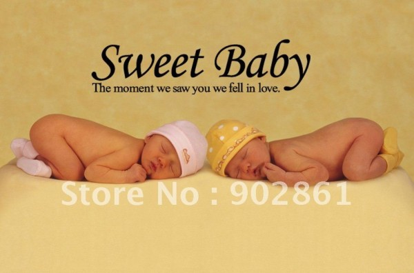 Sweet baby the moment we saw you we fell in love
