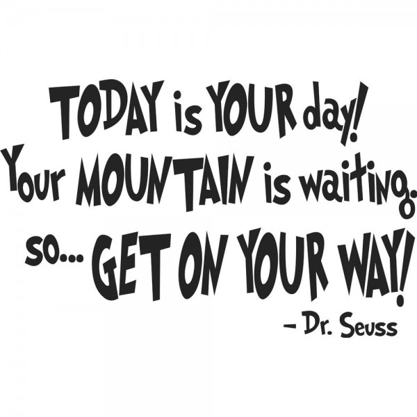 Today Is Your Day Your Mountain Is Waiting So Get On Your Way Dr