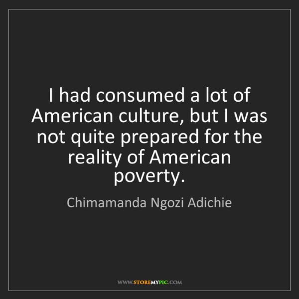 Chimamanda Ngozi Adichie: I had consumed a lot of American culture, but I was not...