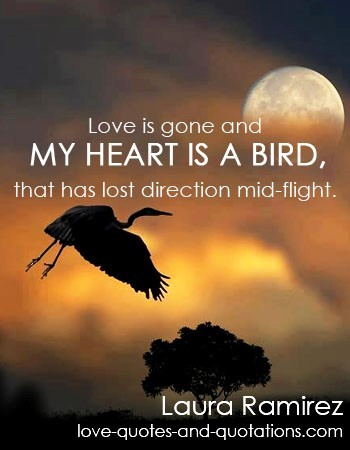 Love Is Gone And My Heart Is A Bird That Has Lost Direction Mid