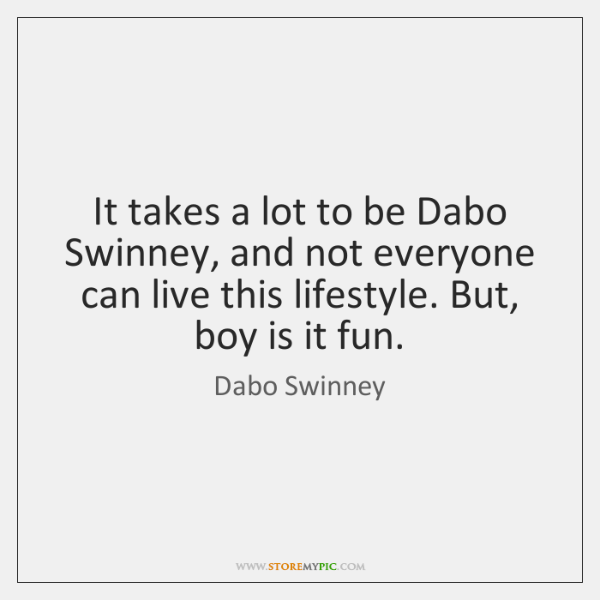 It takes a lot to be Dabo Swinney, and not everyone can ...