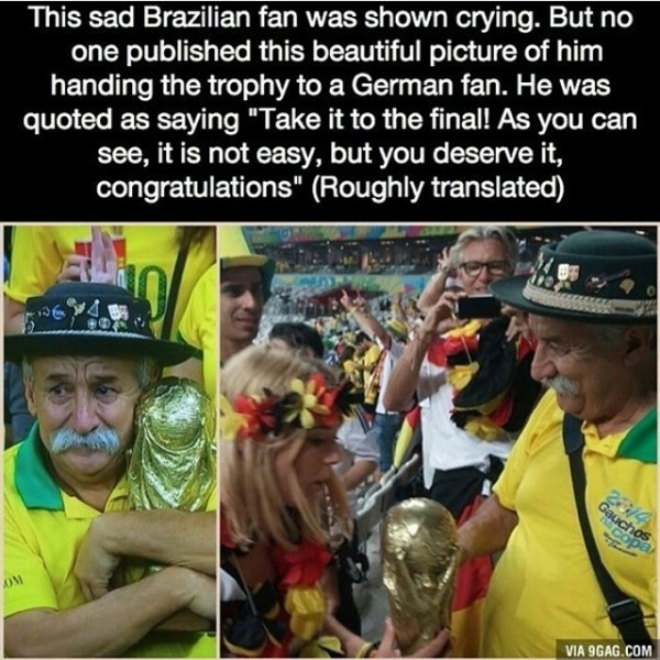 This sad brazilian fan was shown crying but no one published this beautiful picture of