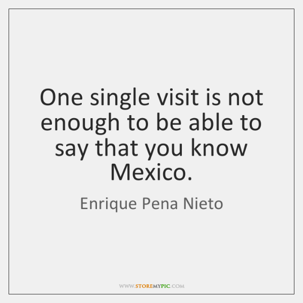 One single visit is not enough to be able to say that ...