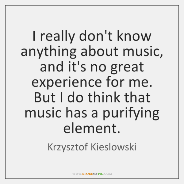 I really don't know anything about music, and it's no great experience ...