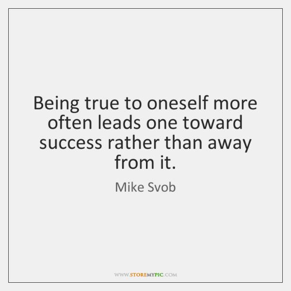 being true to oneself