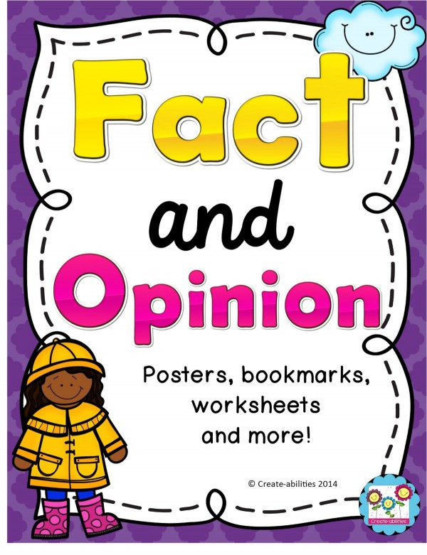 Fact and opinion posters bookmarks worksheet and more