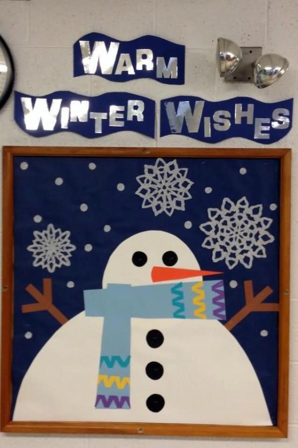 Warm winter wishes bulletin board