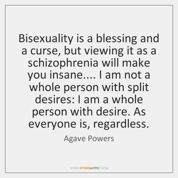Bisexuality is a blessing and a curse, but viewing it as a ...