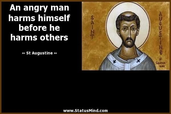 An angry man harms himself before he harms others