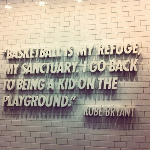Baketball is my refuge my sanctuary i go back to being a kid on the playground robe