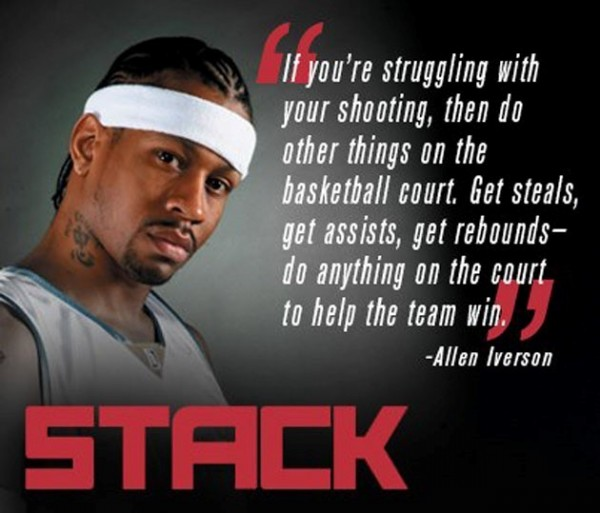 If youre struggling with your shooting then do other thigs on the basketball court