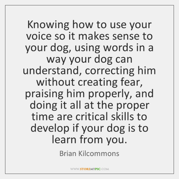 Knowing how to use your voice so it makes sense to your ...
