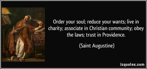 Order your soul reduce your wants live in charity associate in christian community obe