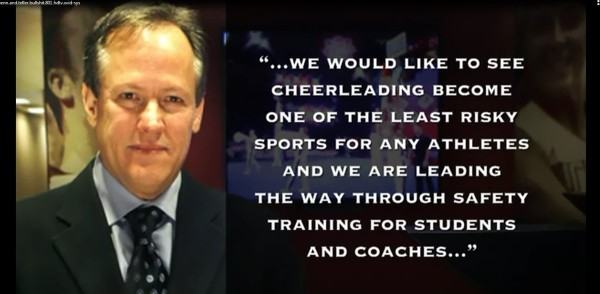 We would like to see cheerleading become one of the least risky sports for any ath