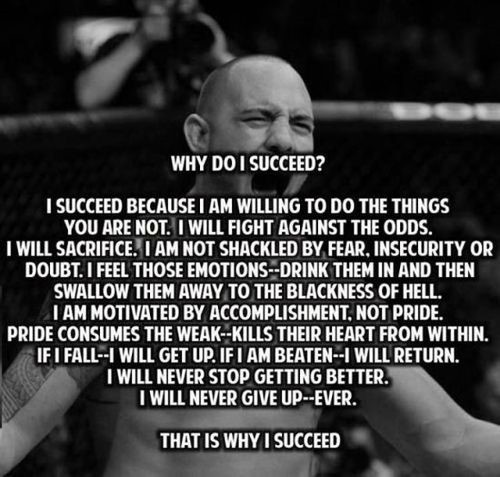 Why do i succeed i succeed because i am willing to do the things you are not i wil