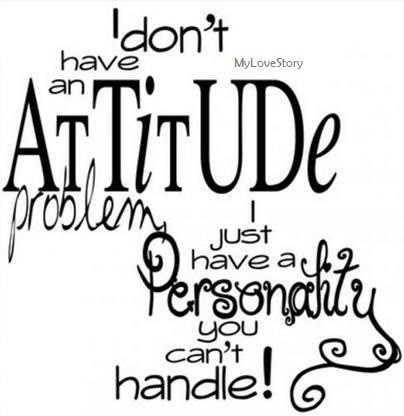 I dont have an attitude problem i just have a personality you cant handle