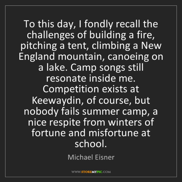 Michael Eisner: To this day, I fondly recall the challenges of building...