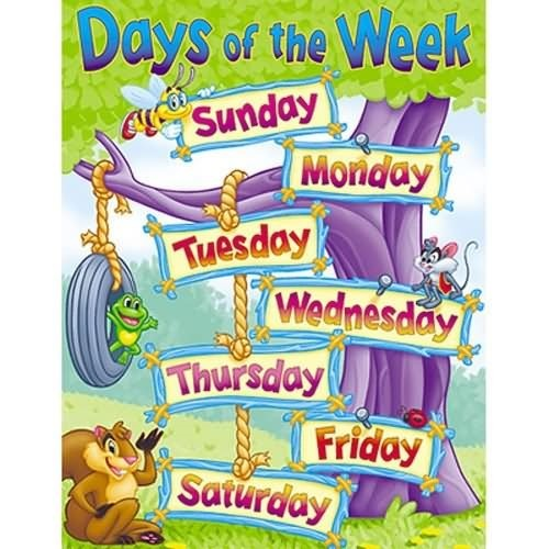 Days of the week animal kingdom