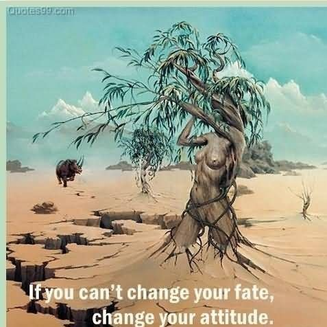 If you cant chagne your fate change your attitude