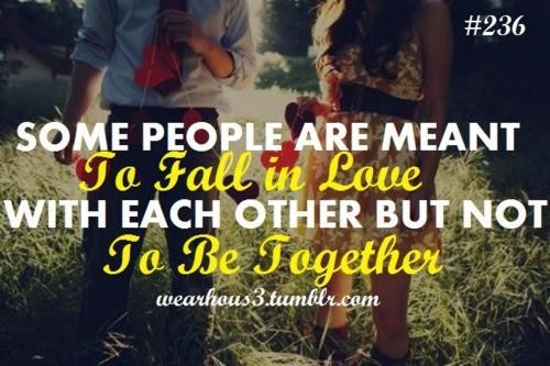 Some People Are Meant To Fall In Love With Each Other But Not To Be