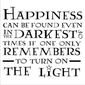 Happiness Can Be Found Even In The Darkest Times If One Only