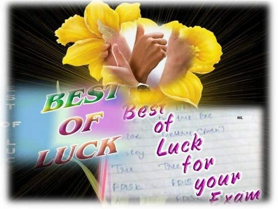 Best of luck for your exam 001