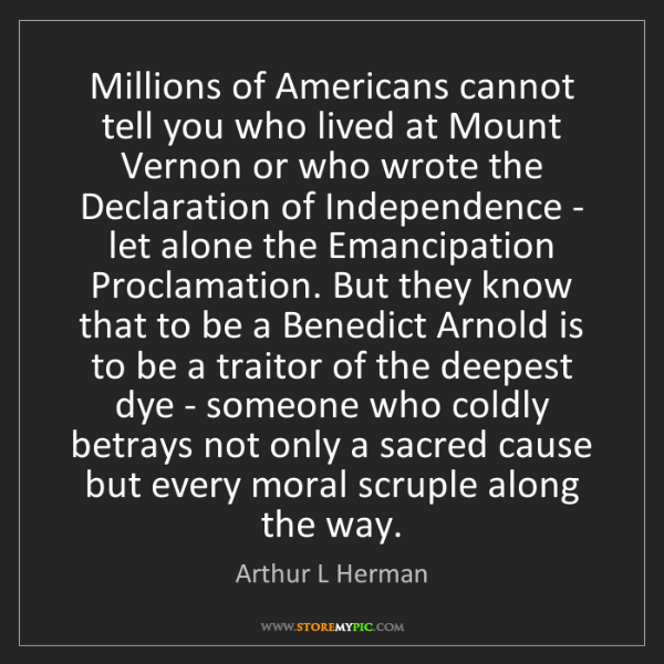 Arthur L Herman: Millions of Americans cannot tell you who lived at Mount...