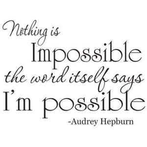 impossible says im possible