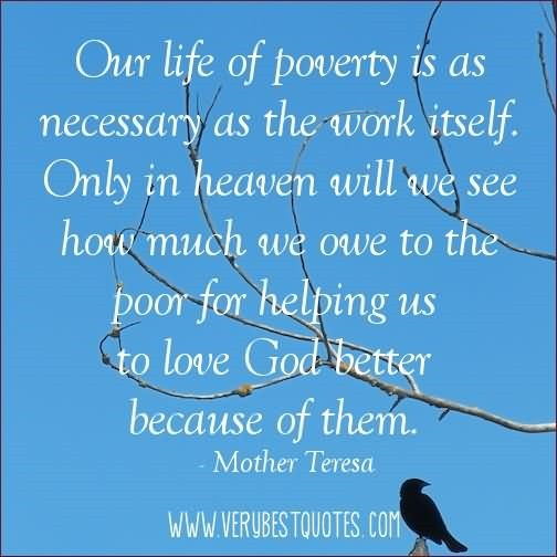 positive functions the poor and poverty