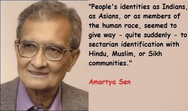 Peoples identities as indians as asians or as member of the human race