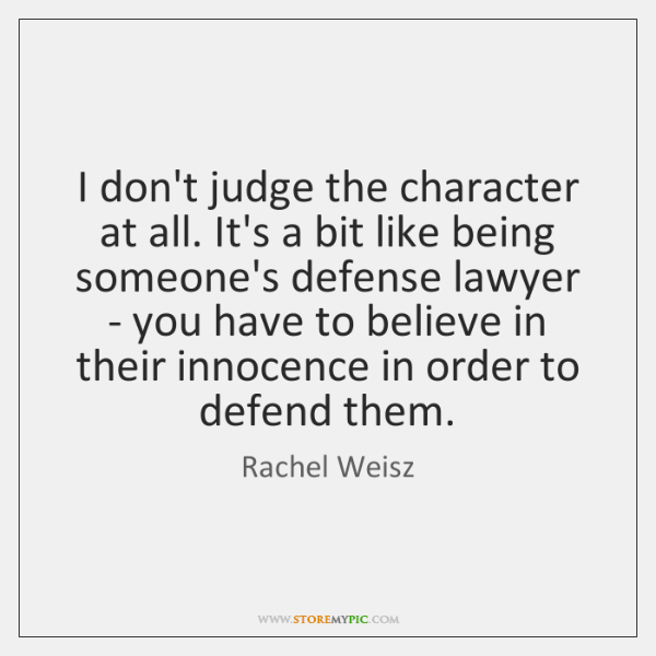 Judge of character