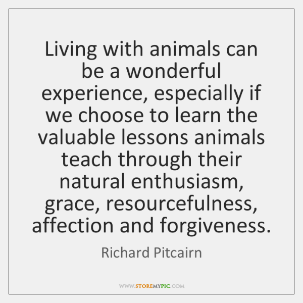 Living with animals can be a wonderful experience, especially if we choose ...
