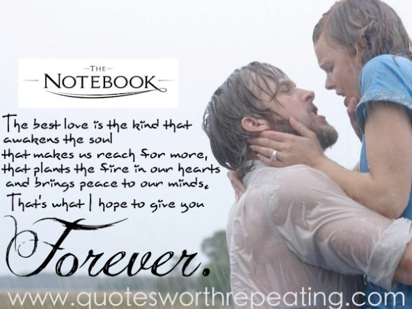 The notebook the best love in the kind that aweken the soul that makes us reach for m