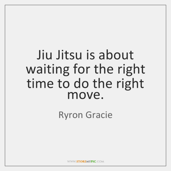 Jiu Jitsu Is About Waiting For The Right Time To Do The Storemypic