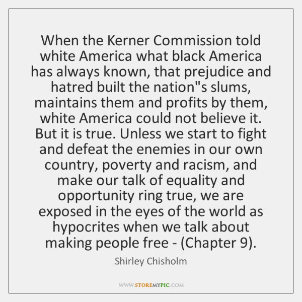 When the Kerner Commission told white America what black America has always ...