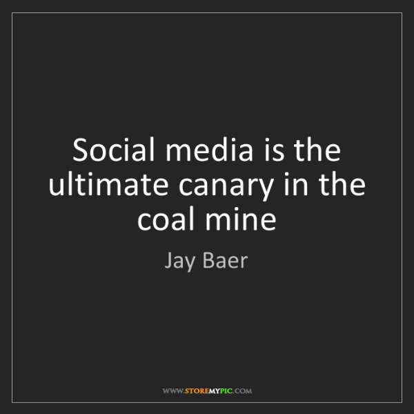 Jay Baer: Social media is the ultimate canary in the coal mine