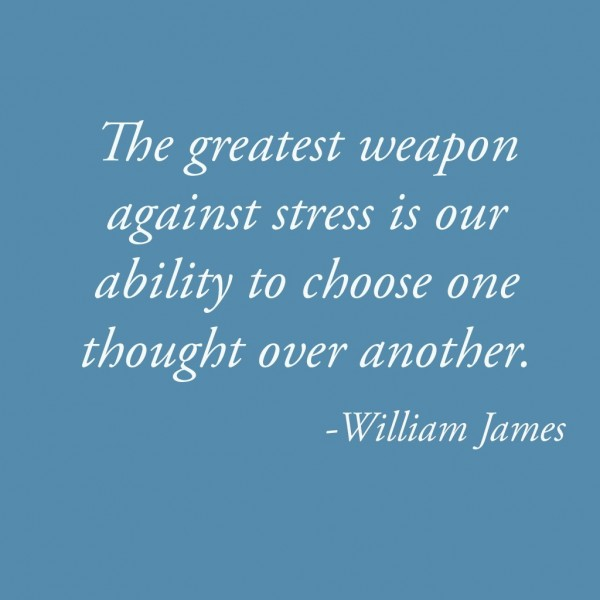 The greatest weapon against stress is our ability to choose one thought over another 00