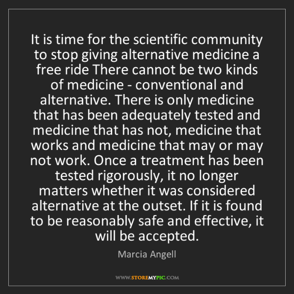 Marcia Angell: It is time for the scientific community to stop giving...