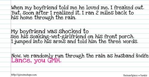 We Randomly Run Through The Rain As Husband Wife Lance You Gmh