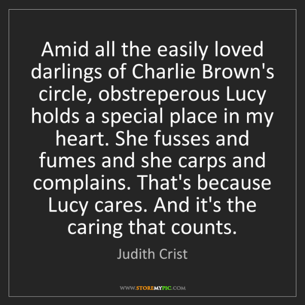 Judith Crist: Amid all the easily loved darlings of Charlie Brown's...