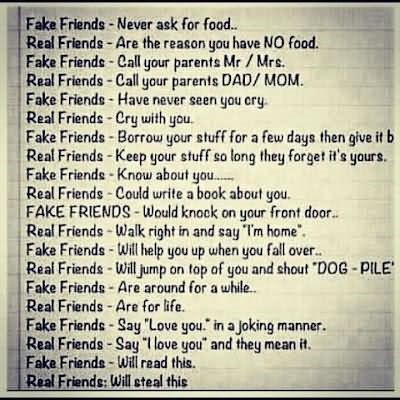 Fake Friends Vs Real Friends Storemypic