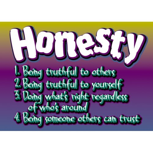 Honesty being truthful to other being truthful to yourself