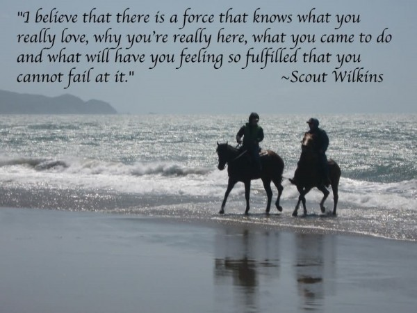 I belive that there is a force that know what you really love why youre really here