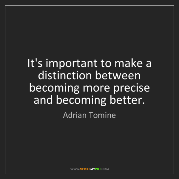 Adrian Tomine: It's important to make a distinction between becoming...