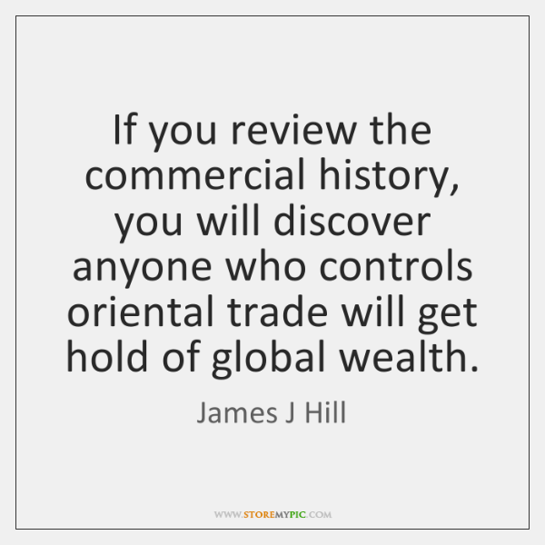 If You Review The Commercial History You Will Discover Anyone Who