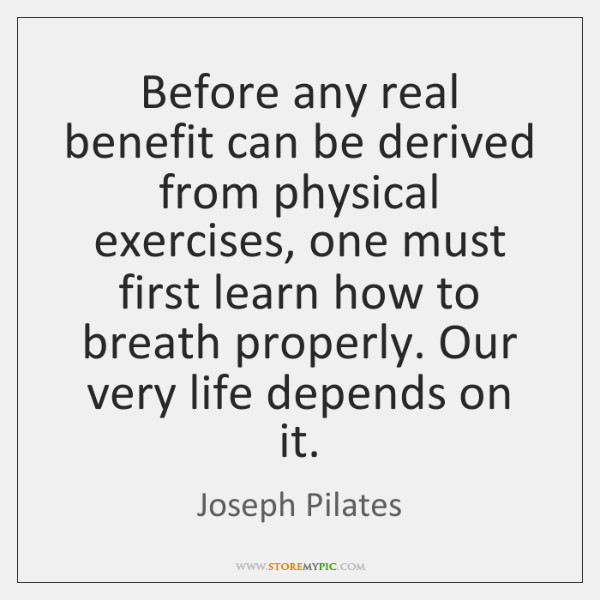 Before any real benefit can be derived from physical exercises, one must ...