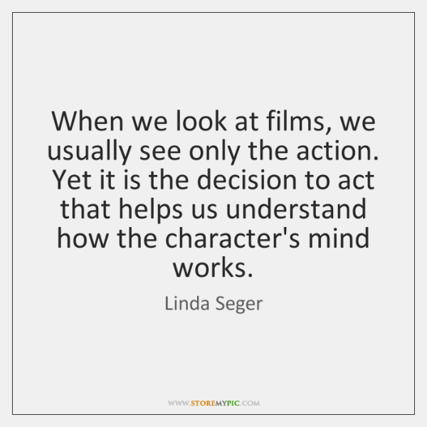 When we look at films, we usually see only the action. Yet ...