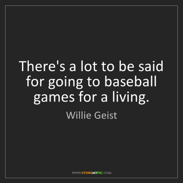 Willie Geist: There's a lot to be said for going to baseball games...